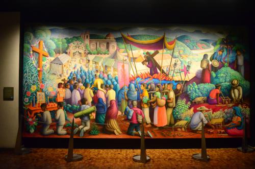 メキシコ国立人類学博物館の展示物キリスト教