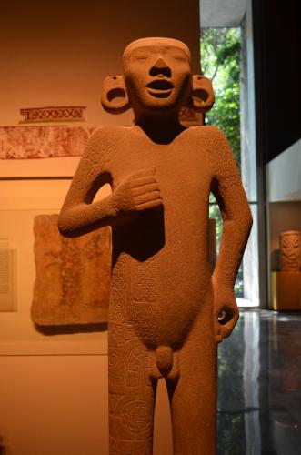 メキシコ国立人類学博物館の展示物