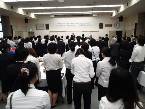 駒ヶ根訓練所の壮行会