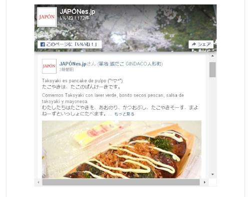 JAPONes.jpのFacebook Page plugin