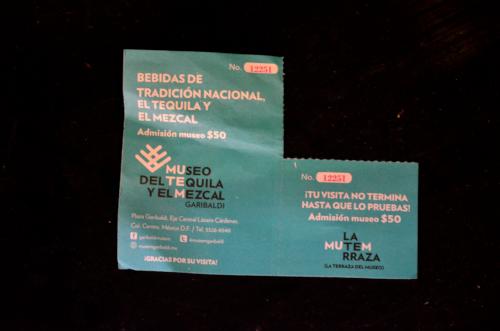 メキシコシティのテキーラ博物館のチケット