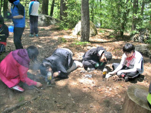 青年海外協力隊の野外訓練
