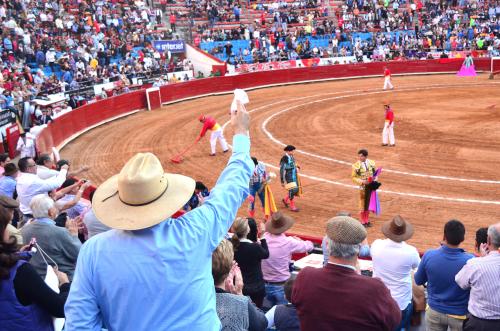 闘牛を観戦する観客