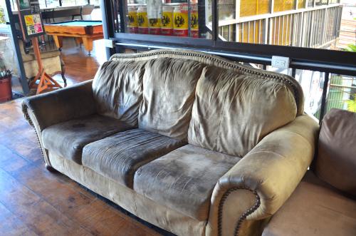 ホスタルパンゲアのソファ