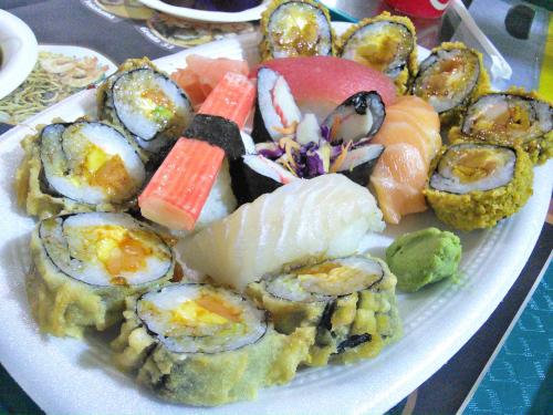 巻き寿司フライと握り寿司