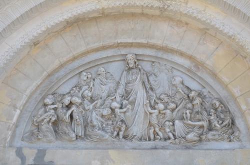 教会に掘られた壁画