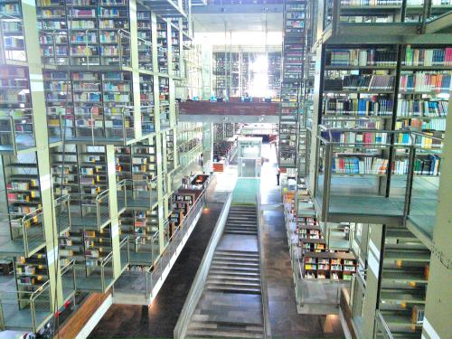 バスコンセロス図書館の上からの写真
