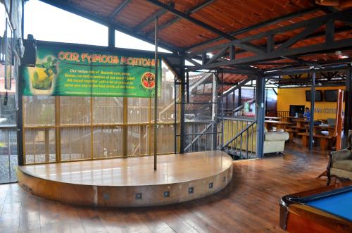 ホスタルパンゲアのポールダンス場