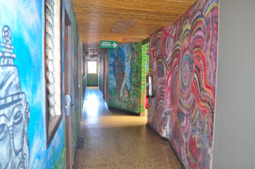 ホスタルパンゲアの廊下