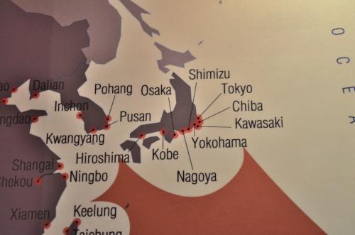 パナマ運河博物館の日本地図