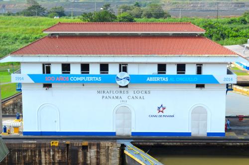 パナマ運河の建物