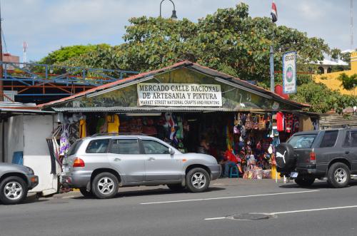 サンホセの民芸品市場の入り口