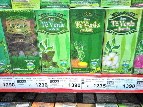 コスタリカはお茶パックが多い