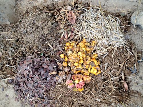 コンポスト有機肥料の材料