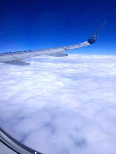 メキシコのカンクン上空