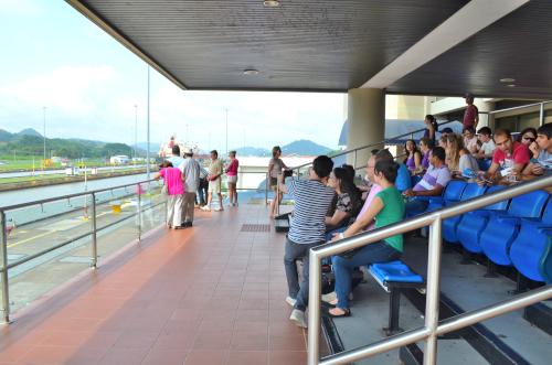 パナマ運河の見学スペース