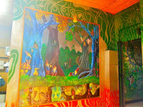 ホスタルパンゲアの壁