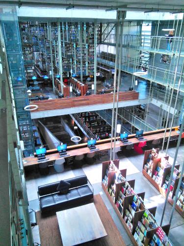 上から見たバスコンセロス図書館