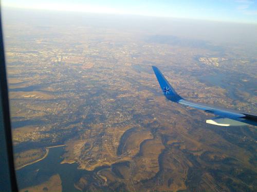 メキシコ上空