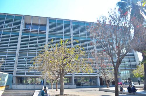 バスコンセロス図書館の入り口