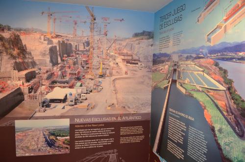 パナマ運河の工事の写真