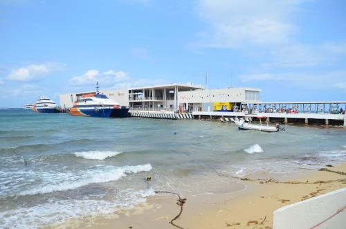 コスメル島の船着き場