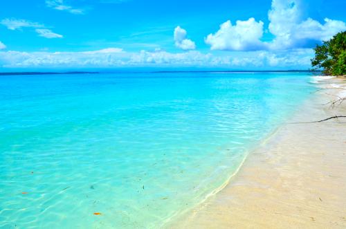 青いカリブ海