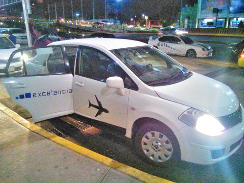 メキシコシティの空港専門タクシー