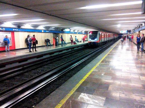 メキシコシティの地下鉄の構内