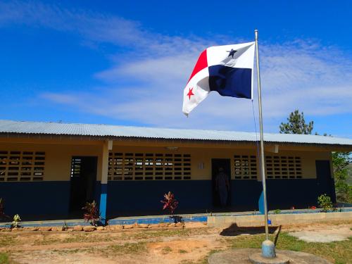 学校のパナマ国旗