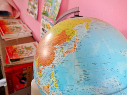 地球儀の日本