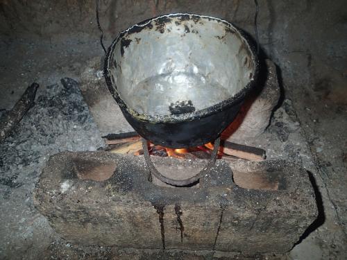 お湯を沸かす