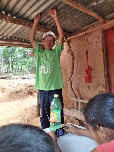 アンテナを持つ村人