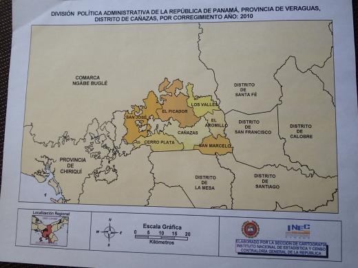 ベラグアス県の地図