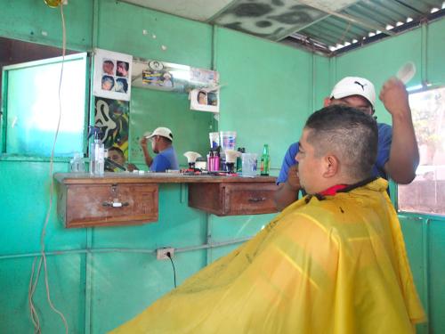 パナマの理容室