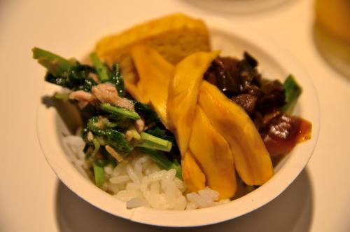 野菜が中心の料理