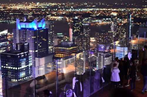 ニューヨークの夜景の展望台