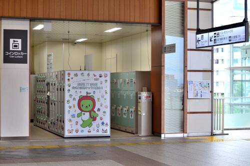 長野駅東口のコインロッカー