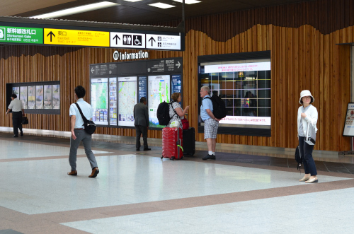 長野駅の構内