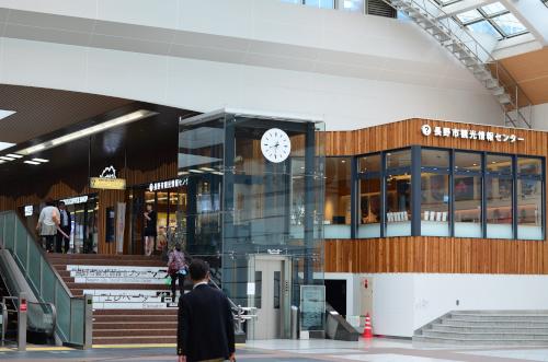 長野駅の広場