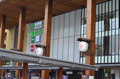 長野駅の看板