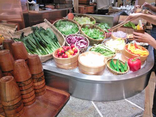 長寿食堂のサラダビュッフェ