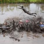 須坂市の仁礼の里泥んこソフトバレーボール大会に出場したら、体は汚れたけど心は綺麗になった!
