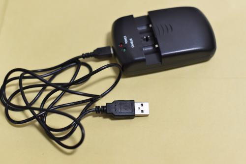 usb端子で充電