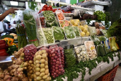 メキシコシティの野菜売り場