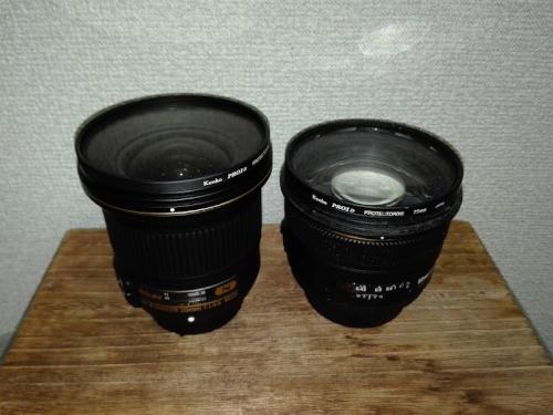 2本の単焦点レンズ