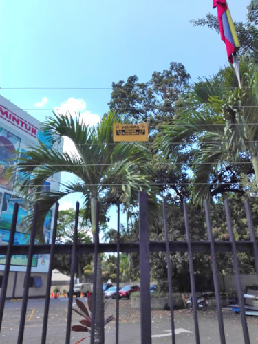 首都カラカスの電気柵