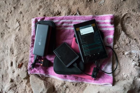 登山で活躍したモバイルバッテリー