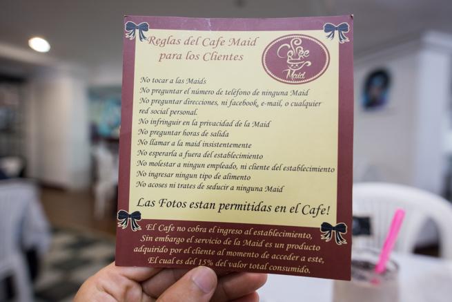 メイドカフェのルール