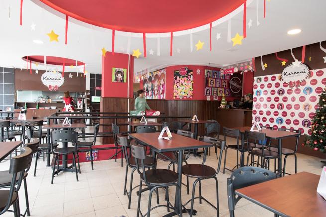 コロンビアのボゴタのメイドカフェ